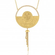 0.36 Carat Diamond / Code: KL0000058 / 24 Carat Gold and Diamond Combination 100% Handcrafted Special Design Necklace