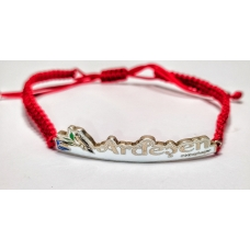 Code :  ARDEŞEN RED THREAD BRACELET / 925 Sterling Silver and Enamel Painting 100% handcrafted. Black Sea Special Design Necklace