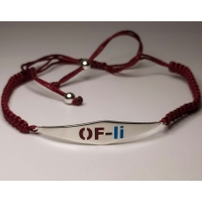 Code : OFLI BRACELET / 925 Sterling Silver and Enamel Painting 100% handcrafted. Black Sea Special Design Necklace