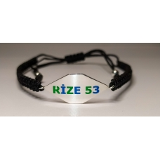 Code : RİZE 53 BRACELET / 925 Sterling Silver and Enamel Painting 100% handcrafted. Black Sea Special Design Necklace