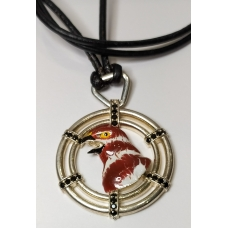 Code : BIRD NECKLACE / 925 Sterling Silver and Enamel Painting 100% handcrafted. Black Sea Special Design Necklace