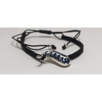 Code : JUMPSUIT BRACELET / 925 Sterling Silver and Enamel Painting 100% handcrafted. Black Sea Special Design Necklace
