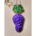 Code : GRAPE NECKLACE - GRAPE LEAF EARRINGS SET / 925 Sterling Silver and Enamel Painting 100% handcrafted. Black Sea Special Design Necklace