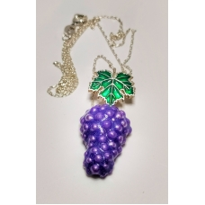 Code : GRAPE NECKLACE / 925 Sterling Silver and Enamel Painting 100% handcrafted. Black Sea Special Design Necklace