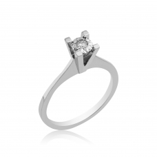 0,02 Carat Diamond / Code: JYZ0000016 / 14 Carat Gold Diamond Solitaire Ring